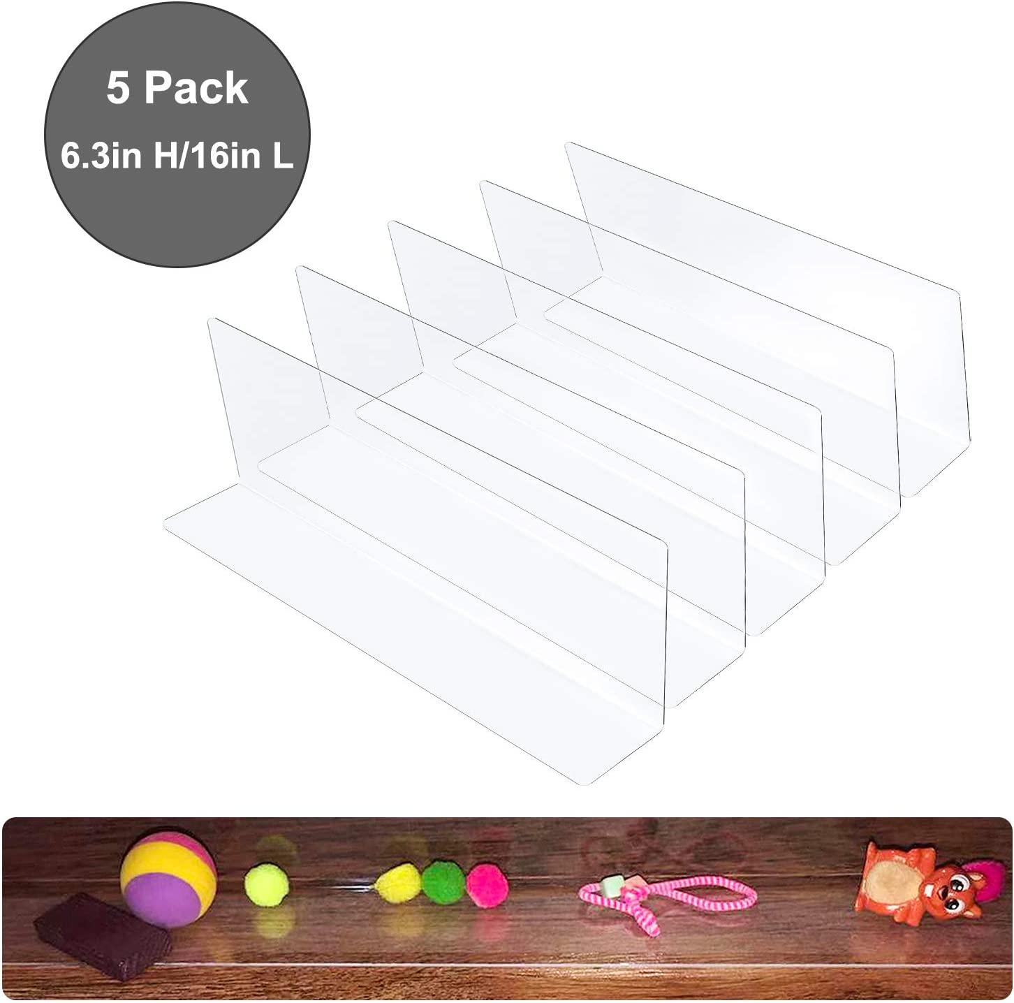 World Backyard Toy Blockers for Furniture - Clear Thin PVC Gap Bumper Under Couch, Sofa, Bed, Cabinet to Stop Small Things Going into. (X-Large 6.3'' High)