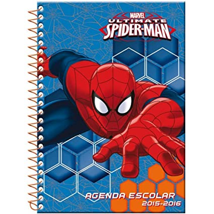 Agenda escolar Spider-man Marvel A5 2015-2016: Amazon.es ...