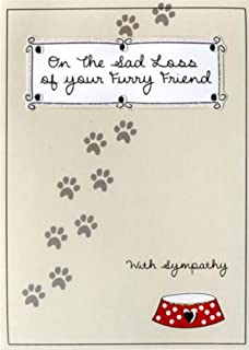pet condolence sympathy card on the loss of your pet cat amazon