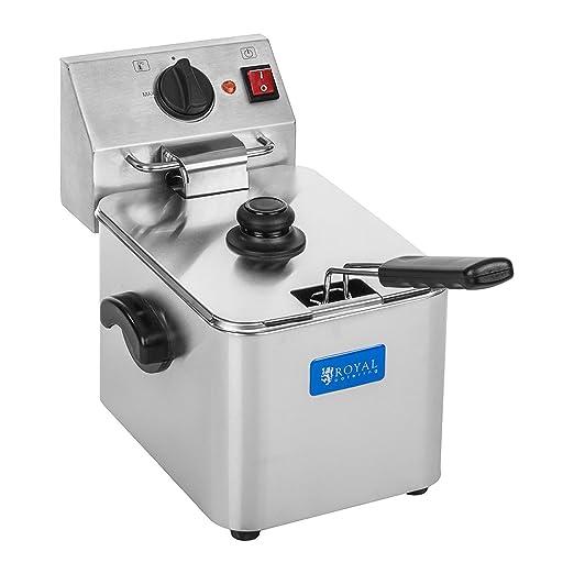 3 opinioni per Royal Catering- RCEF 08E-EGO- Friggitrice elettrica in acciaio inox- 8 Litri-