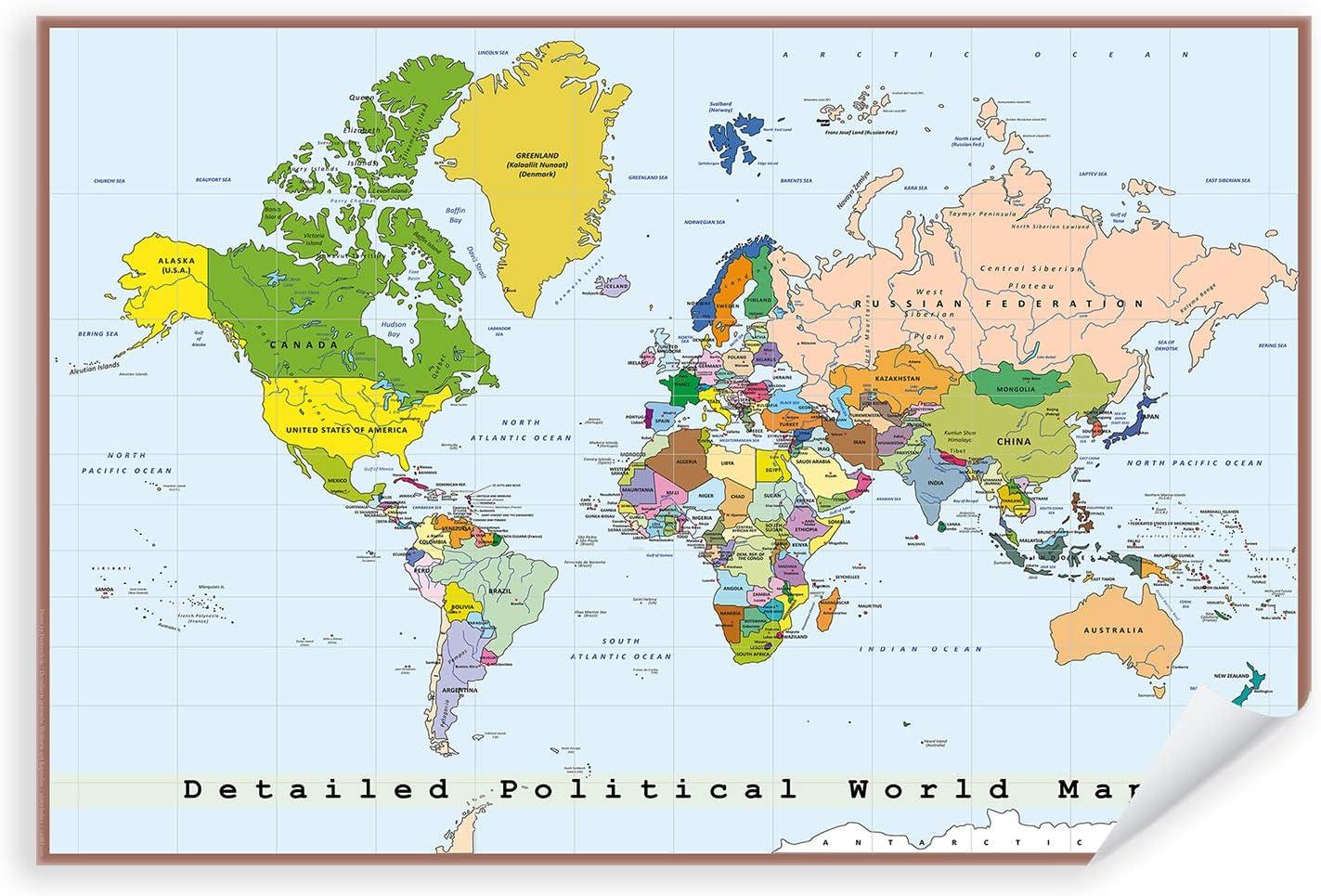 Cartina Capitali Del Mondo.Messa A Fuoco Ultime Notizie Compressa Mappa Del Mondo Con Capitali Amazon Settimanaciclisticalombarda It