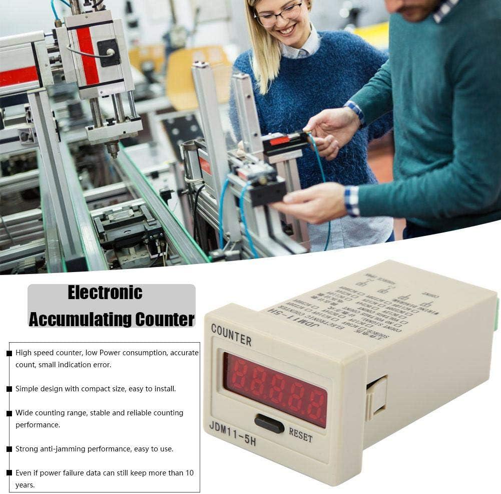 DIGITEN 0-999999 Digital LED Counter Electronic Counter JDM11-6H AC220V // DC36V // DC 24V // DC 12V DC24V optional