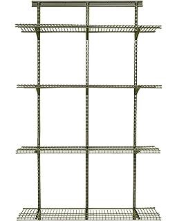 ClosetMaid 32845 ShelfTrack Adjustable Utility Organizer Kit,Nickel,4u0027.