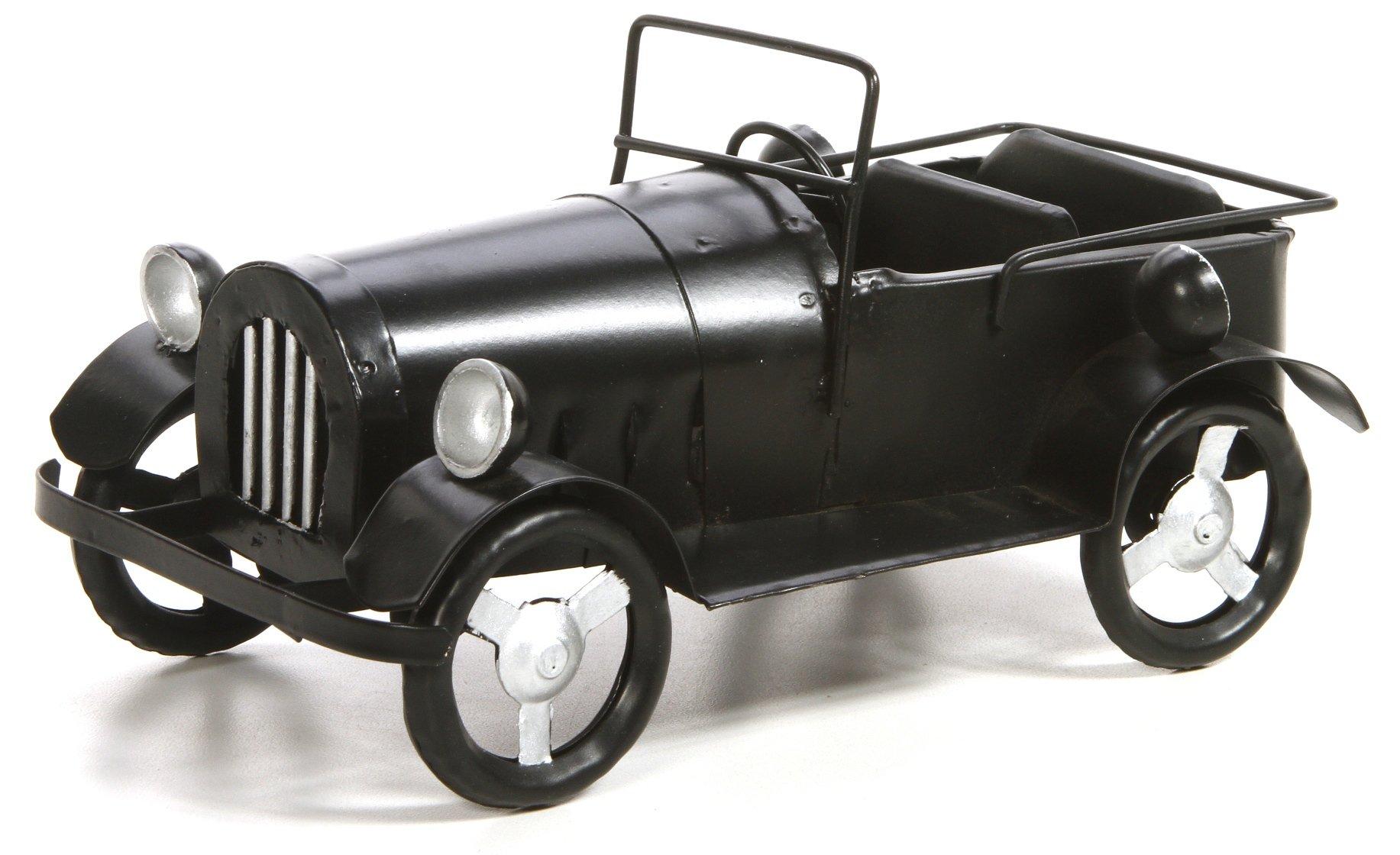 Hosley's 9'' Long, Decorative Tabletop Black Metal Vintage Car. Ideal Gift for Wedding, Home, Party Favor, Spa, Reiki, Meditation, Bathroom Settings.
