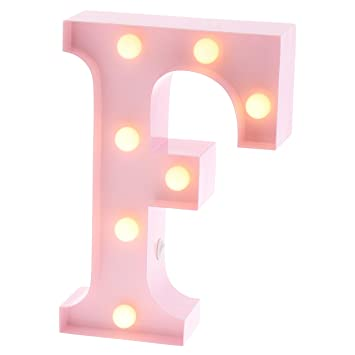 Barnyard Designs Metal Marquee Letter F Light Up Wall Initial Nursery Letter 0fd3d8dbe20a