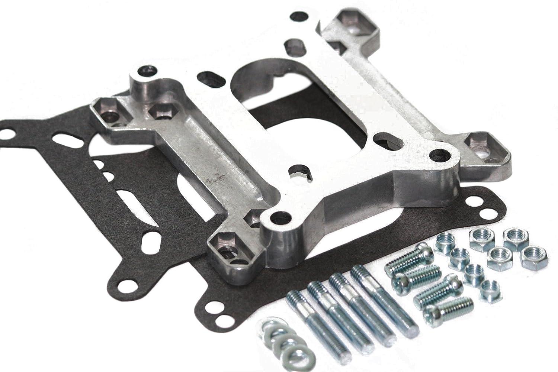 Aluminum 2 Barrel to 4 Barrel Carburetor / Intake Manifold Adapter RPC