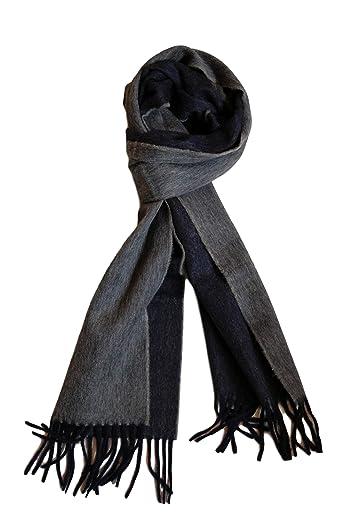 Wool Angora Scarf ALLAA 19751: Navy / Grey