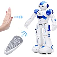 KINGSDRAGON Robot Toys RC Robot for Kids Rechargeable Intelligent Programmable Robot with Infrared Controller,Remote…