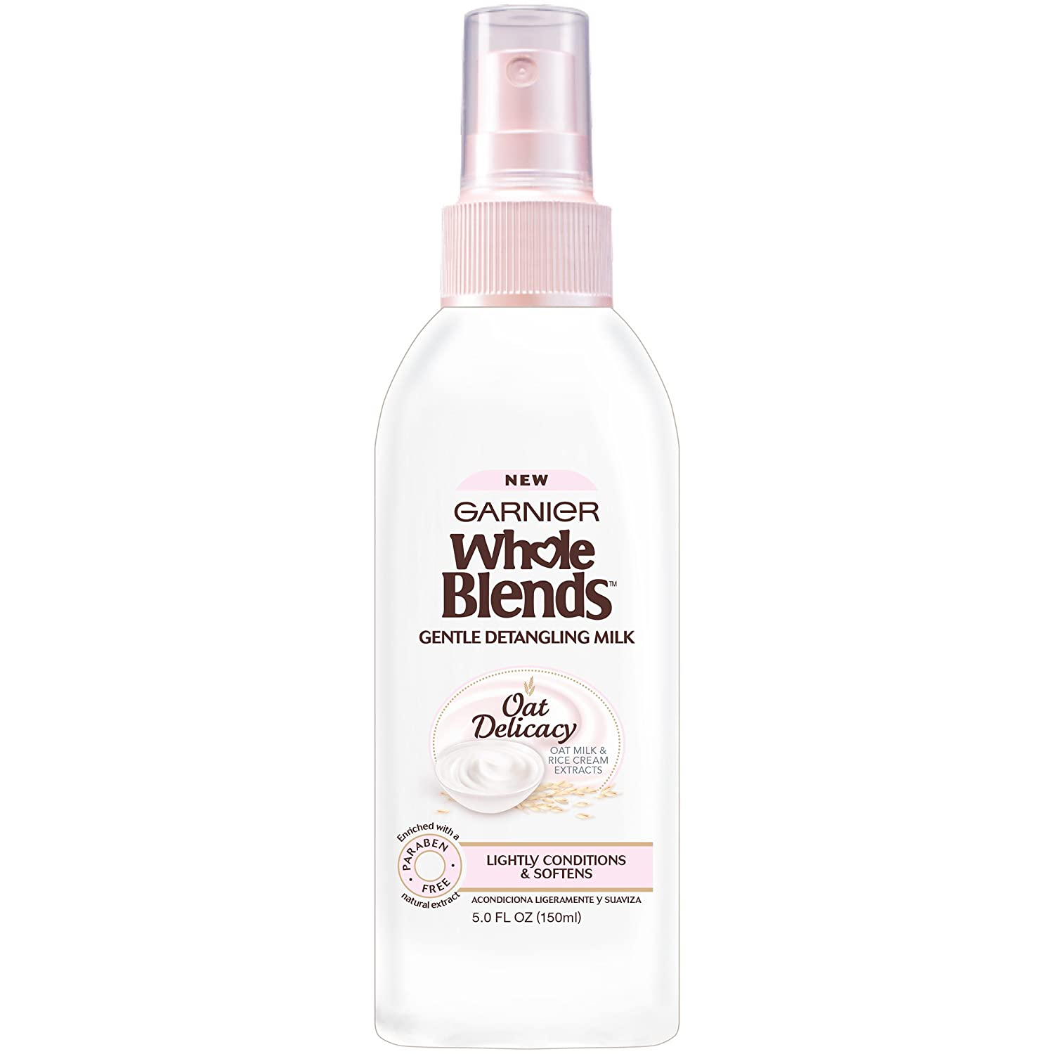 Garnier Whole Blends Gentle Detangling Hair Milk Oat Delicacy, 5 fl. oz. L' Oreal - Hair Care 603084543854