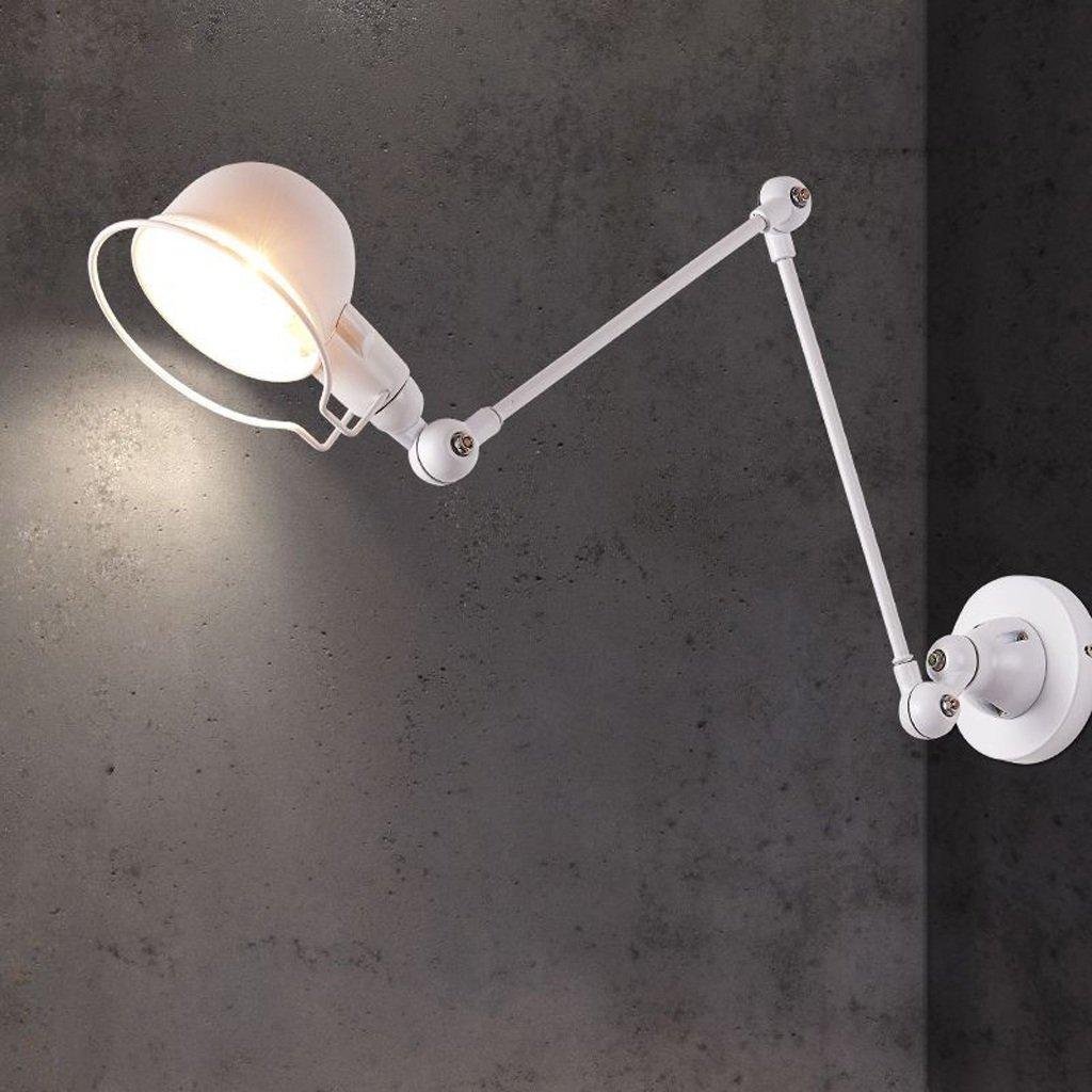 Modeen Vintage 35, 4 Largo braccio lungo può essere allungato Lampada da parete regolabile Industriale Luce interna Applique con braccio Armato Magazzino Barn Luce bianca