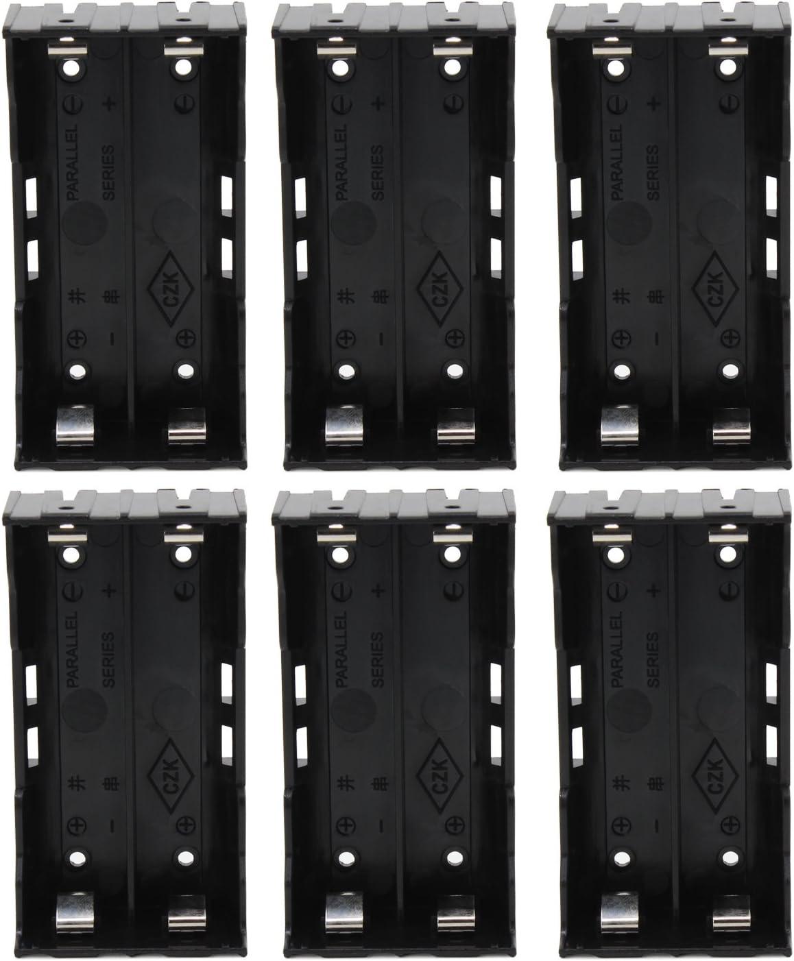 KEESIN 3.7V 18650 Batería Poseedor Caso El plastico Tapa de la batería Caja de almacenamiento con pin(2 Solts × 6 Piezas)