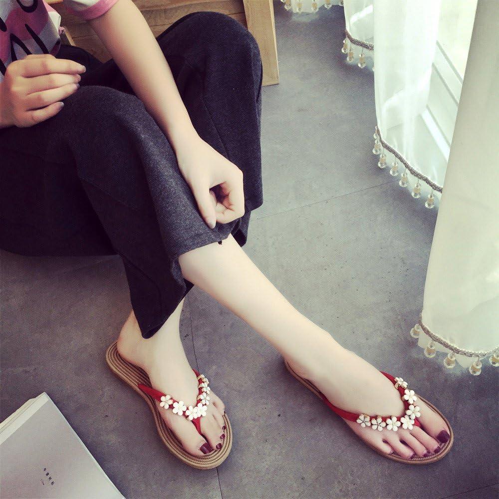Siriay Womens Sandal Ladies Fashion Casual Flower Flip Flops Sandals Slipper Summer Beach Shoes Flats