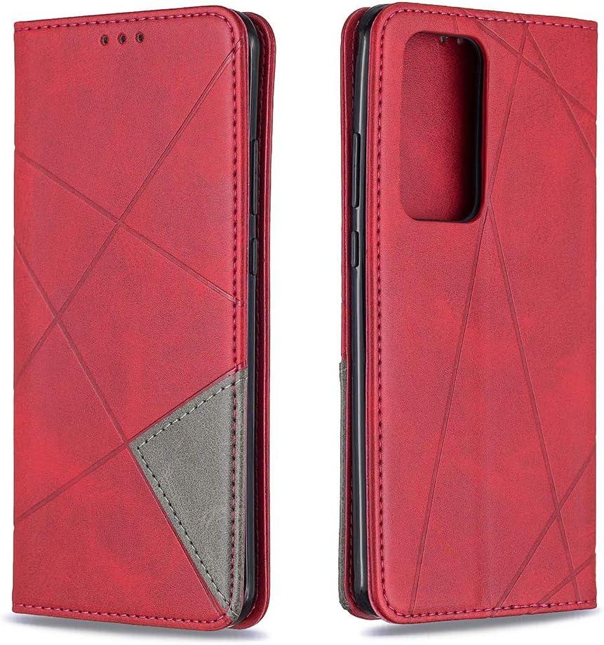 Bicase Funda Huawei P40 Pro Carcasa Protectora de Cuero de PU para Huawei P40 Pro Libro Soporte Plegable Ranura Billetera con Tapa Tarjetas Cartera Flip Case Negro
