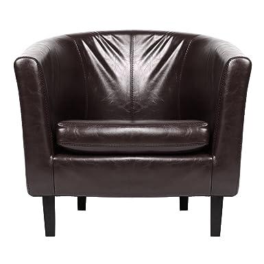 Cooshional Stuhl Sessel Lounge Einzel Sofa Kunstleder Schwarz Rot Braun Für  Esszimmer Wohnzimmer Büro