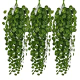 Kxnet 6 PC rattan artificiale, decorazione per giardino falso vite Plantleaves Garland Home Beautify parete Arbour Decor
