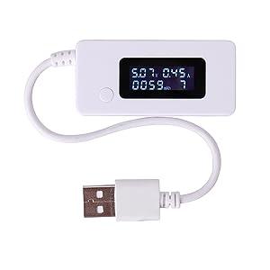 Nuevo USB Voltios Amperios Amperímetro Voltímetro Capacidad Actual Tester Meter Por Teléfono TE76