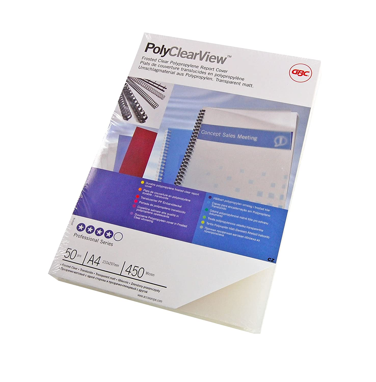PolyClearView Abdeckfolie, 50 Stück, 450 Micron, klar 50 Stück ACCO Brands IB387159