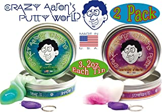product image for Crazy Aaron's Thinking Putty Phantoms (UV Reactive) Foxfire & Arctic Flare wi...