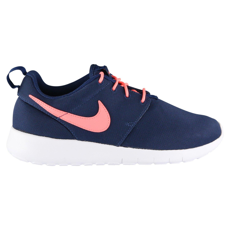 NIKE Kids Roshe One (GS) Binary Blue/Lava Glow White Running Shoe 5 Kids US