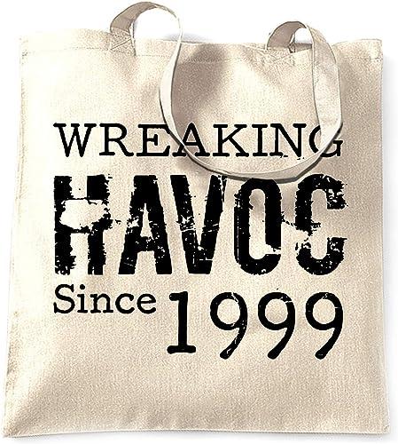 19th Birthday Gift Cotton Tote Bag Shopper Shopping Custom add Name Present 1999