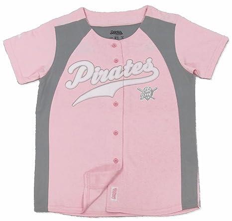 174f807cdbb Amazon.com   Stitches MLB Pittsburgh Pirates Girl s Fashion Jersey ...