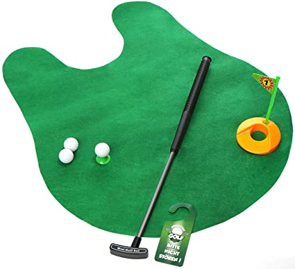 com-four® Juego de Inodoro de Golf de 8 Piezas, con Palo de ...