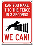 """Funny Beware of Dog Sign, Made Out of .040 Rust-Free Aluminum, Indoor/Outdoor Use, UV Protected and Fade-Resistant, 10"""" x 14"""", by My Sign Center"""