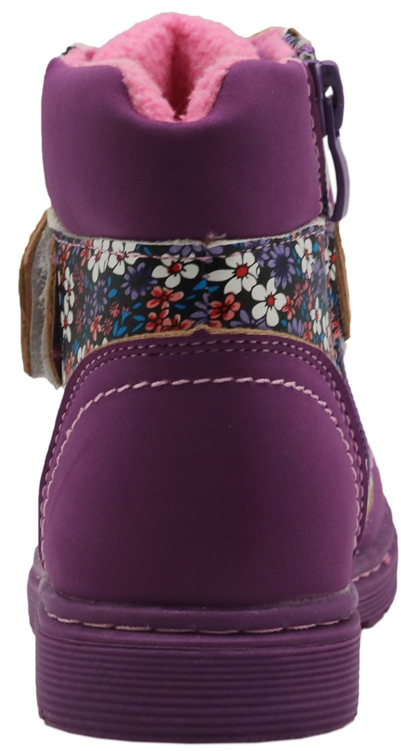 Non-Slip Spring Autumn Kids Girls Shoes Floral Martin Boots Toddler//Little Kid Durable Color : Purple , Size : 8 M US Toddler