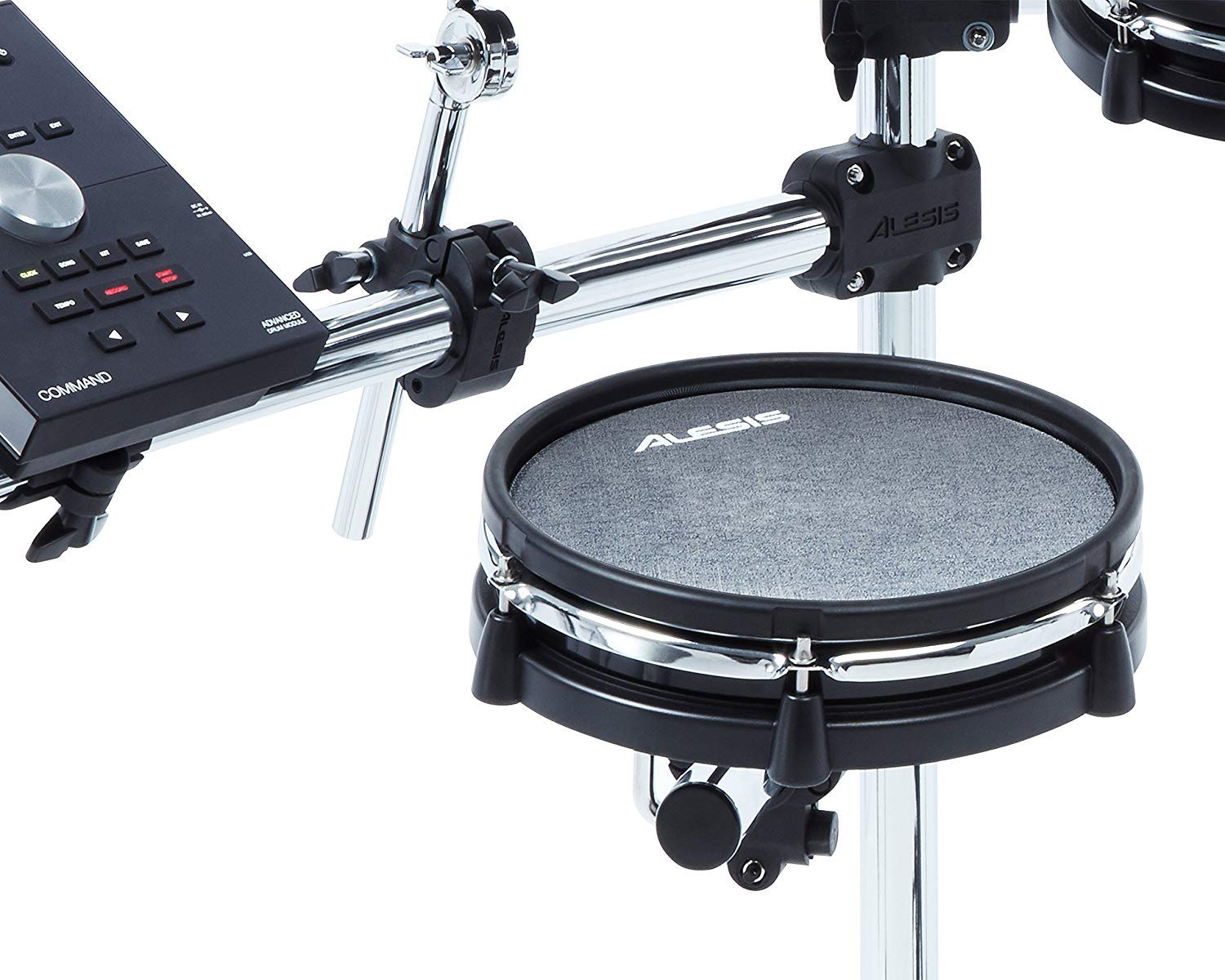 Alesis COMMAND MESH KIT Eight-Piece Electronic Drum Kit with Pair of Drumsticks + Samson SR550 Studio Headphones + Hosa 3.5 mm Interconnect Cable, 10 feet - Deluxe Accessory Bundle by Alesis (Image #9)