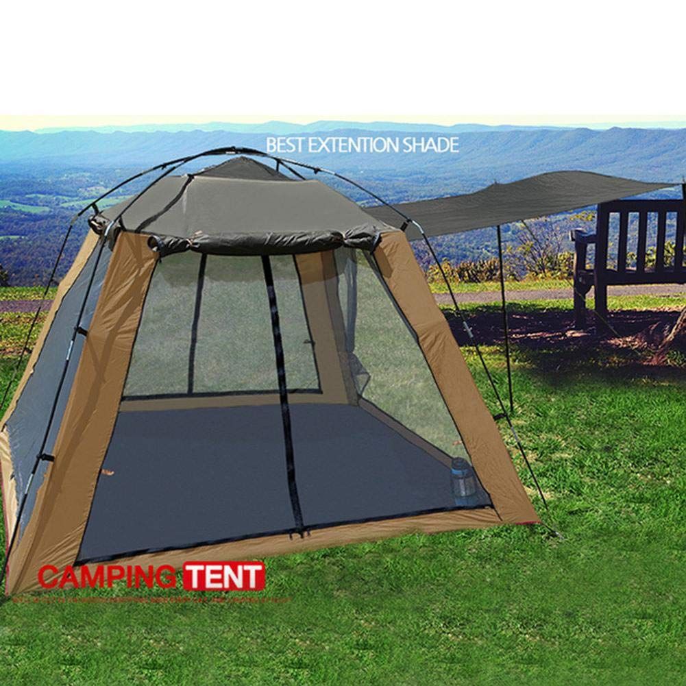 Basisago Outdoor Tent Camping Gauze Breathable Sunscreen Four Doors And Windows Ventilation Insect-Proof 3-4 People Camping Fishing Tent
