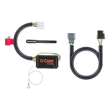amazon com: curt 56365 vehicle-side custom 4-pin trailer wiring harness for  select honda pilot, ridgeline: automotive