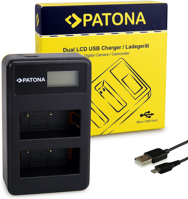 PATONA 4in1 Chargeur pour NP-W126 Batterie compatible avec Fujifilm FinePix HS30EXR X-H1 HS50EXR HS33EXR X-T20