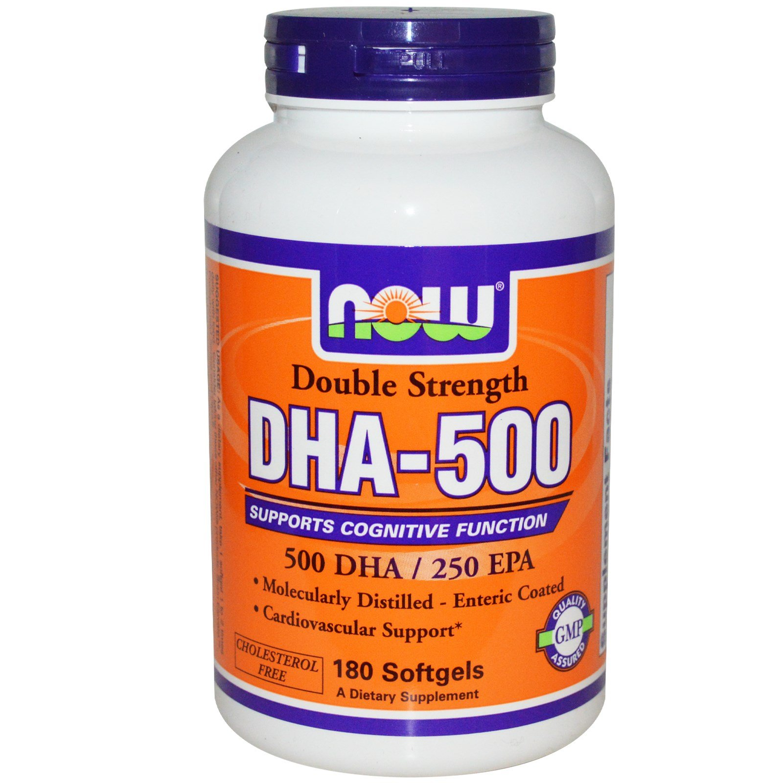 NOW Foods - Dha- 500Mg 180 Sgels (Pack of 4)