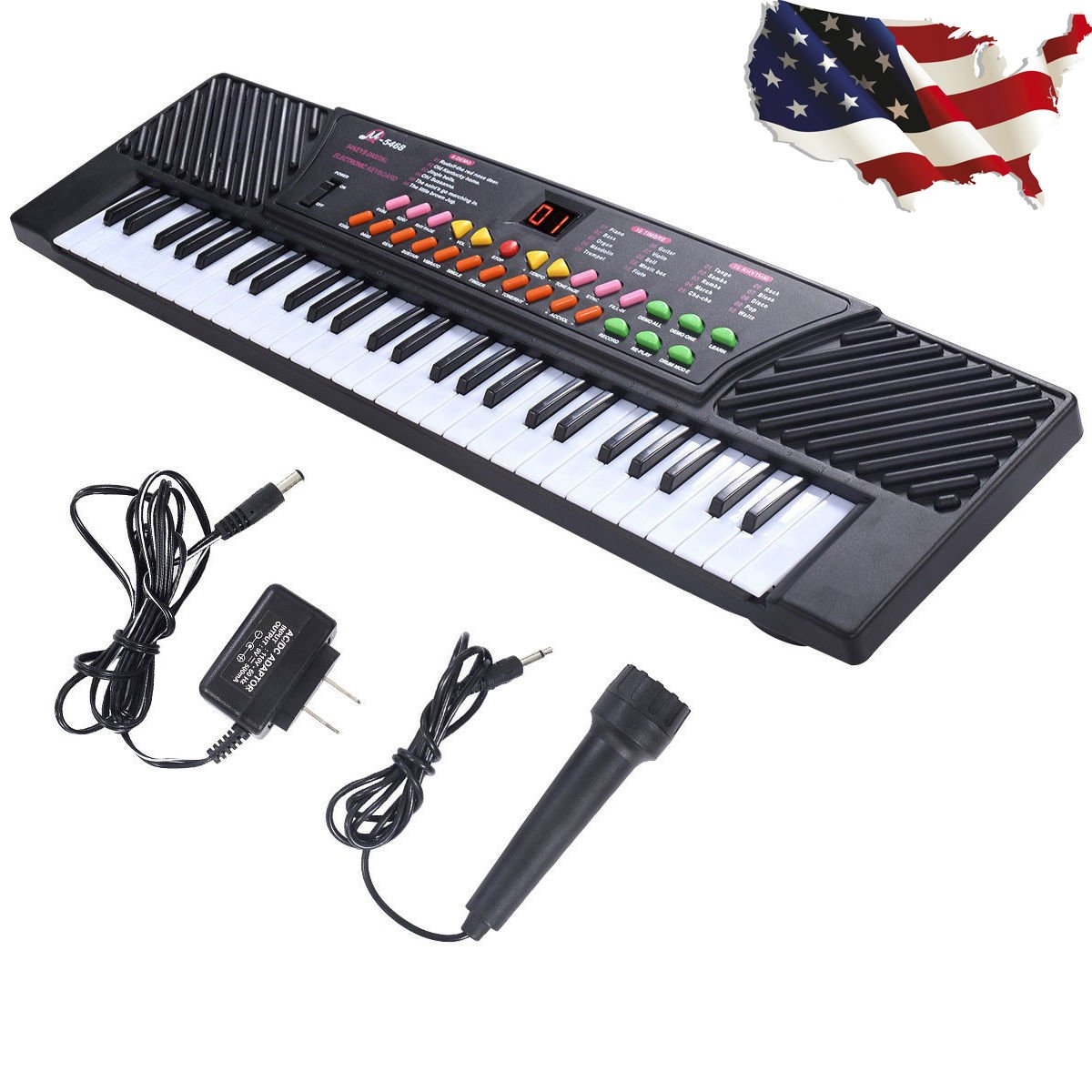 New 54 Keys Music Electronic Keyboard Kid Electric Piano Organ W/Mic & Adapter, This Keyboard Is Definitely The Best Gift For Your Children, External Speaker/Microphone/DC/AC Powe