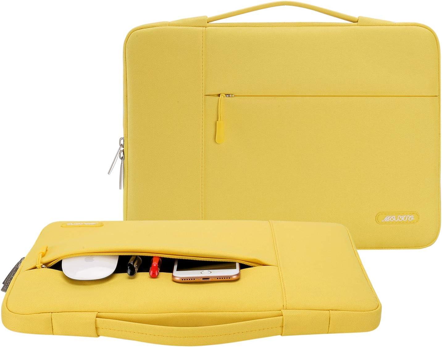 Polyester Multifunktion Laptoptasche Aktentasche Handtasche Notebook Computer Gelb MOSISO Tasche Sleeve H/ülle Kompatibel mit 13-13,3 Zoll MacBook Air MacBook Pro