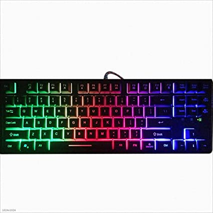 Amazon.com: Mingteng Gaming Keyboard, Wired USB Computer Keyboard, Rainbow LED Backlight, 87-Key Ergonomic Keyboard: Electronics