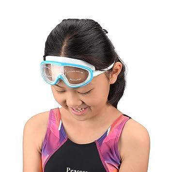 RONHAN Gafas de natación polarizadas con marco grande premium, gafas de natación antiniebla sin fugas