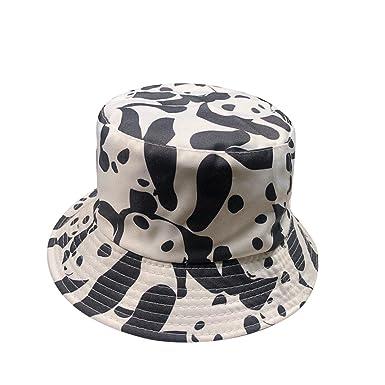 e10839be5ea Women Bucket Hat Jamicy Fashion Panda Printed Foldable Double-Faced Sport  Outdoor Sun-Proof Fisherman Hat (Black)  Amazon.co.uk  Clothing