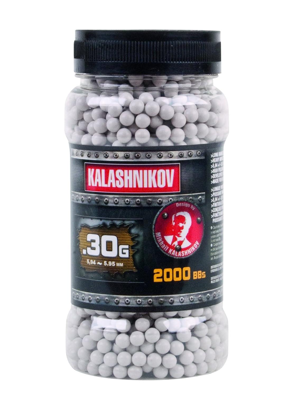 BILLES KALASHNIKOV 2000 X 0.30 G BLANCHES EN POT HAUTE PERFORMANCE 123700 AIRSOFT
