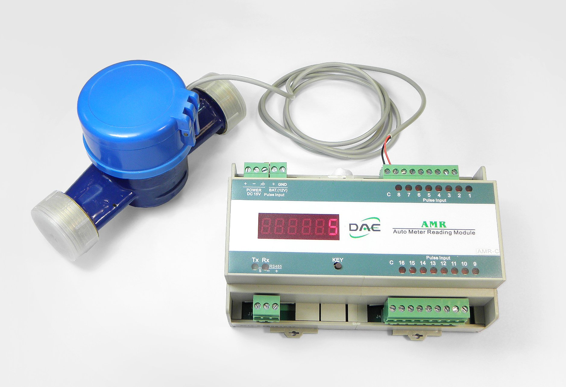 """DAE AS320U-150P 1-1/2"""" Water Meter with Pulse Output, Measuring in Gallon + Coupling by DAE (Image #4)"""
