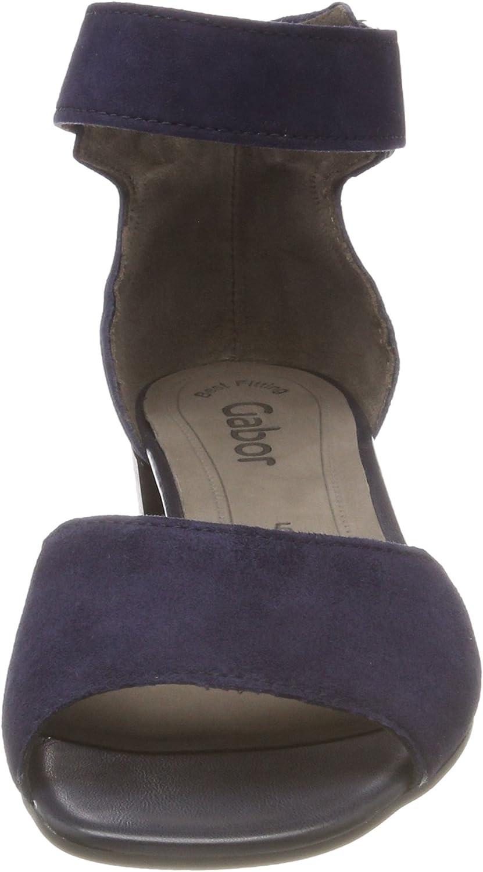 Gabor Shoes Gabor Fashion, Sandales Bride Cheville Femme Bleu Bluette