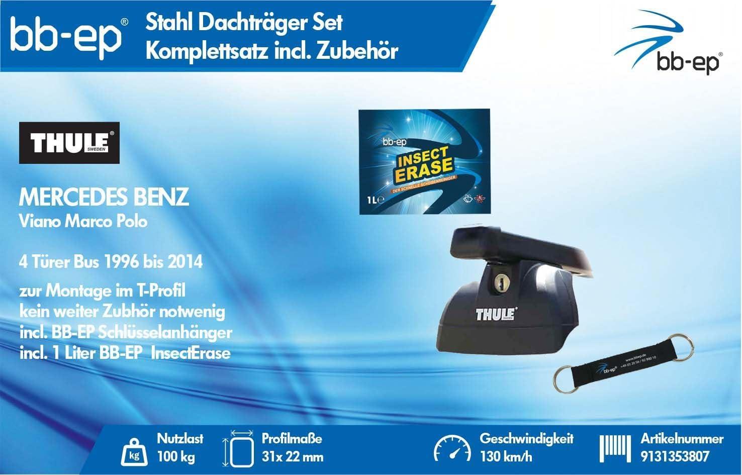 BB-EP/Thule 9131353807 Productos Letter Premium Acero bacas para ...