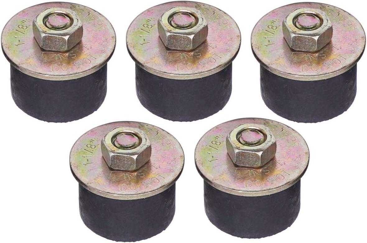 28mm -31mm 1-1//8 to 1-1//4 5 pcs Rubber Expansion Plug