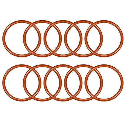 Pack of 10 uxcell Nitrile Rubber O-Rings 47mm OD 42.2mm ID 2.4mm Width Metric Nitrile Rubber Sealing Gasket