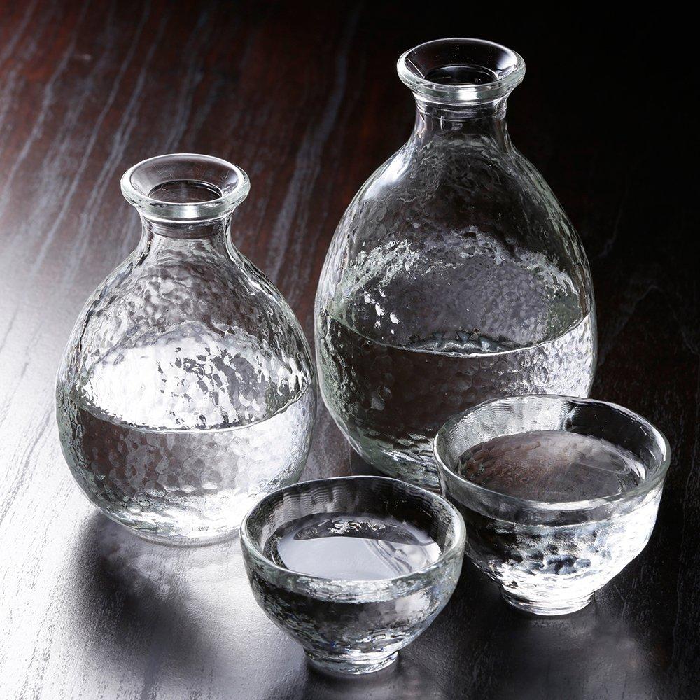 Tugaru Biidoro Heat-resistant Glass Sake Set