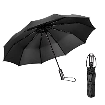 Hamalaya Travel Umbrella Auto Open Close Folding Umbrella - 10 Fiberglass Ribs Durable 210T Fabric  sc 1 st  Amazon.com & Amazon.com: Hamalaya Travel Umbrella Auto Open Close Folding ...