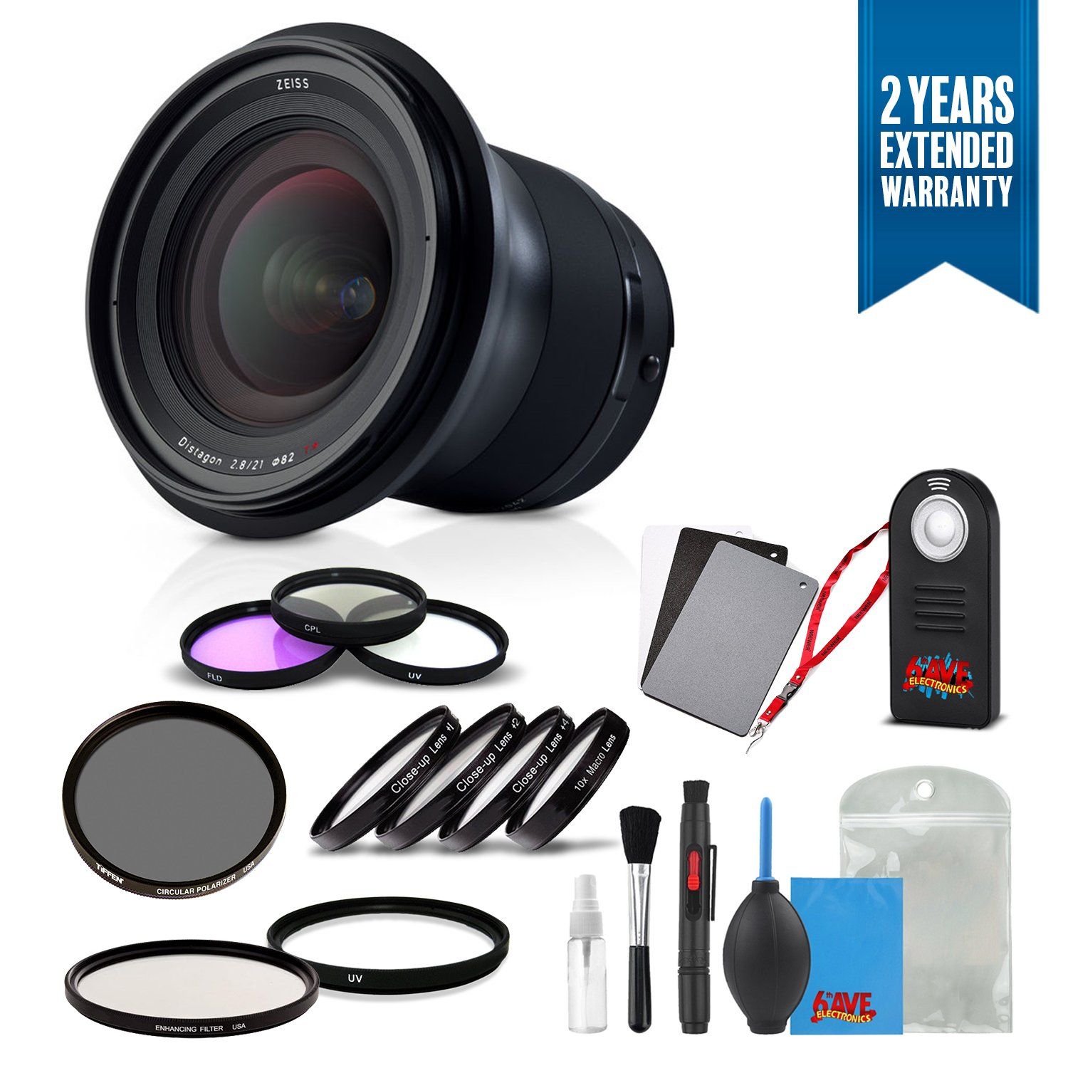 Zeiss Milvus 21 mm f / 2.8 ZE Lens for Canon EF – 2096 – 549 withクリーニングアクセサリーキットと2年間延長保証   B07DHYG81K