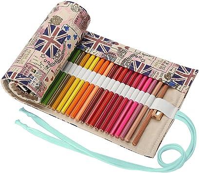 Abaría - Bolso para lápices, Estuche Enrollable para 36 lapices Colores, portalápices de Lona, Bolsa Organizador lápices para Infantil Adulto, Bandera 36: Amazon.es: Electrónica
