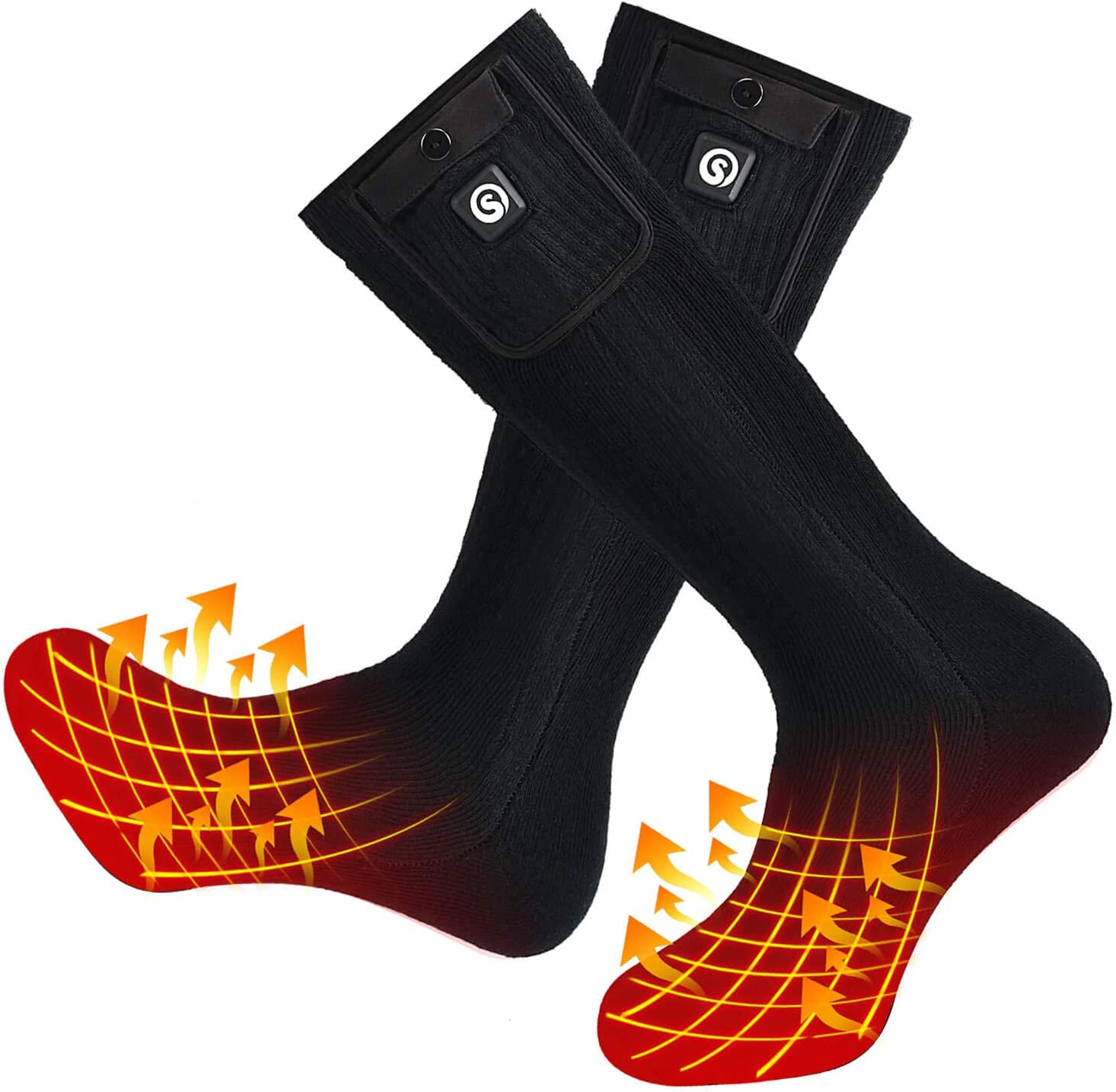 SNOW DEER Battery Heated Socks for Men Women