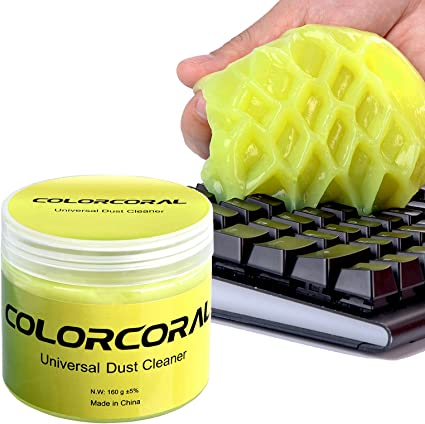 ColorCoral 160G - Limpiador de teclado universal de gel de limpieza para PC, tableta, ordenador portátil, rejillas de ventilación, cámaras, ...